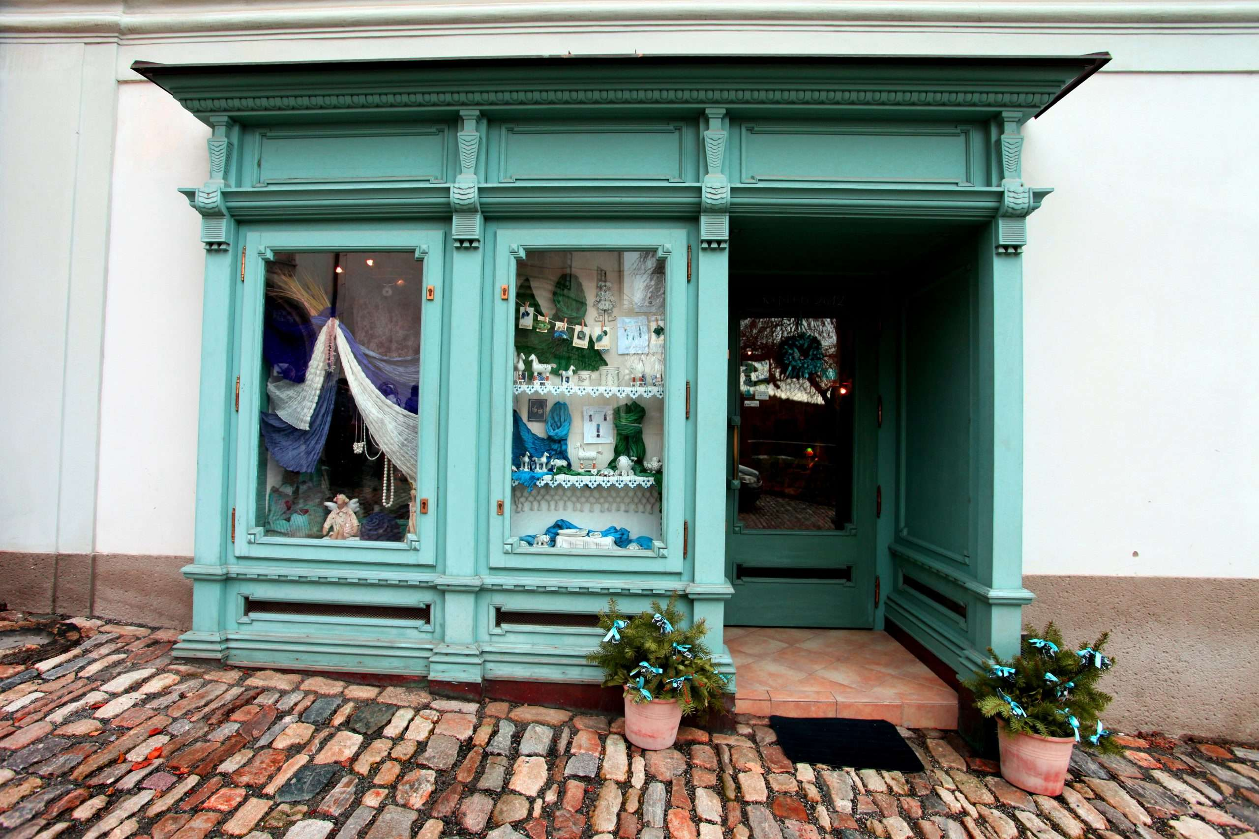 A retail storefront that may require an owner to set aside money for business construction or renovation costs