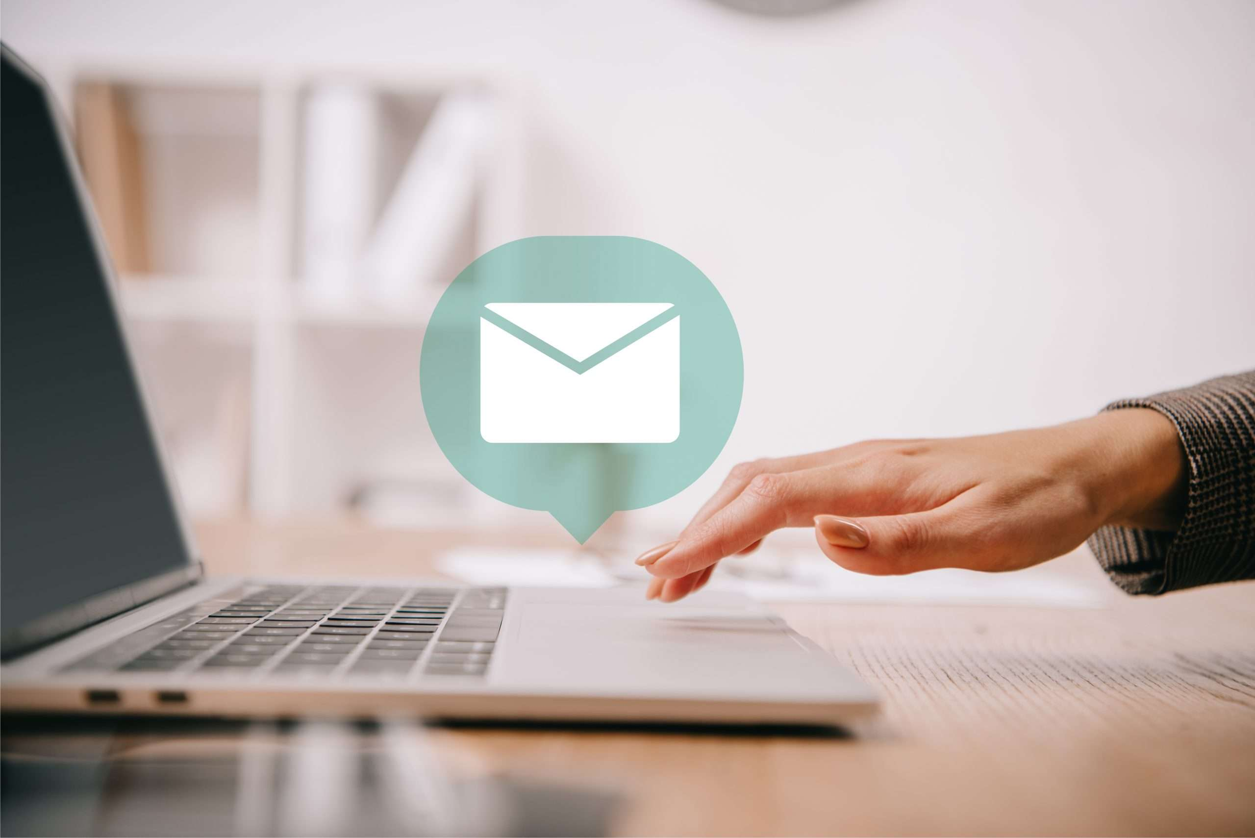 A business owner works with one of the popular email marketing services to deliver clean, captivating emails to her audience.