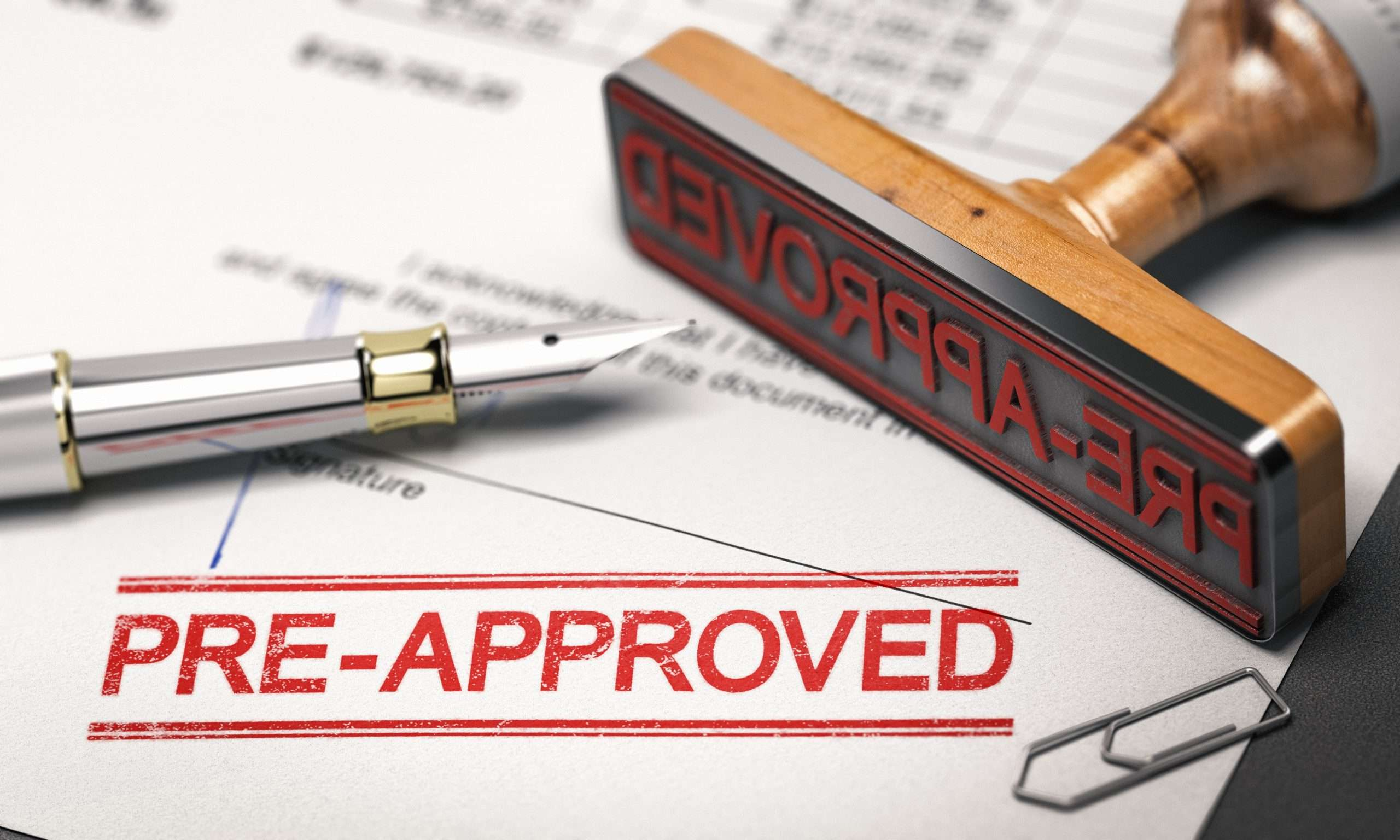 A business is preapproved for financing